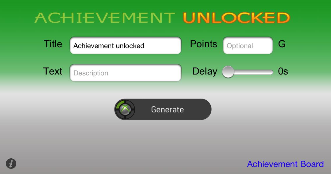 Xbox 360 Achievement Generator - Touche Apps